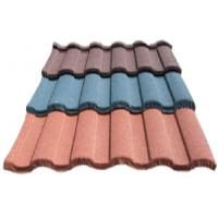 Buy cheap Wave Corrugated Double Roman Roof Tiles / colorful Stone Coated Metal Roofing sheet from wholesalers