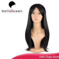 China Hand Tied Straight 7A Virgin Human Hair Lace Wigs Hair Natural Color on sale
