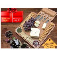 Buy cheap Antibacterial Bamboo Cheese Board With Knives Wood Charcuterie Platter & Meat Server from wholesalers