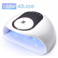 Buy cheap 168W Nail Drying Lamp Professional UV LED Nail Dryer For Gel Polish With LED Display from wholesalers