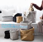 Buy cheap FREE SHIPPING Washable kraft paper laundry basket household storage bag DuPont tyvek paper shopping bag bagease bagplast from wholesalers