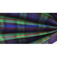 Buy cheap Green Blue Plaid Yarn Dyed Uniform Fabric Stretch Polyester Twill / Drill for Men's Lady's from wholesalers