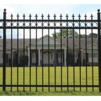Buy cheap 60*60mm Post Size Metal Garden Fencing , Black Rod Iron Fence 2.0m --2.5m Length from wholesalers