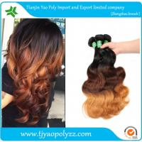 Buy cheap New Fashion Ombre Hair Extension Three Tone Color #1b/#4/#27 Brazilian Body Wave Bundles Ombre Human extension from wholesalers