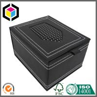 Buy cheap Black PU Leather Gift Paper Box with Window; Clear Window Gift Box for Ties from wholesalers