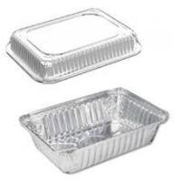 Buy cheap Daily Use Aluminium Foil Container / Foil Pans With Lids For Freezing 145 * 120mm from wholesalers