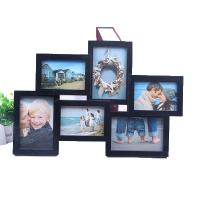 Buy cheap Chinese Manufacturer hot sale black photo frame gallery frame 6 opening photo frame from wholesalers