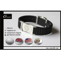 Buy cheap Silicone Magnetic Titanium Bracelets , Adjustable Watch Clasp from wholesalers