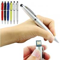 Buy cheap 3 In 1 64GB USB Flash Drive / USB 2.0 Pen Drive With Ball Point Pen 14.5cm from wholesalers