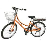 Buy cheap normal bike electric bike electric bicycle with basket pedal assist from wholesalers