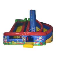 Buy cheap Outside Garden Inflatable Dry Slide Kids Huge with Bouncer YKK Zipper from wholesalers