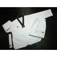 Buy cheap 110-180cm High Quality Cotton Striped Taekwondo Clothes Uniform from wholesalers