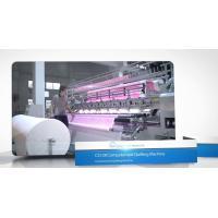Three Needle Row Shuttle Quilting Machine , Comforter Making Machine Split Type Design