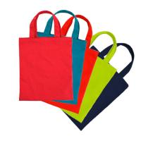 Buy cheap customized color tote bag 100% cotton short handle eco-friendly shopping bag from wholesalers