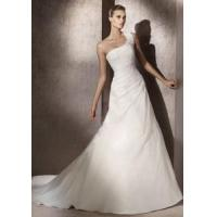 Buy cheap China Wedding Dress /Fashion One-Shoulder Net Tulle Wedding Dress from wholesalers