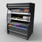 Buy cheap Upright 780L 2doors beverage glass door freezer from wholesalers