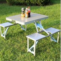 Buy cheap Portable aluminum folding tabel and chair for outdoor use from wholesalers