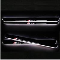 Buy cheap LED Moving Door Scuff sill for AUDI A3 A4L A5 A1 A6L car pedals LED door sill plate light from wholesalers