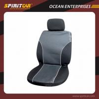 Buy cheap Universal Polyester Comfortable replacement car seat covers Black and Gray from wholesalers
