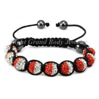 Buy cheap Macrame Crystal Clay Shamballa Bracelet For Ladies from wholesalers