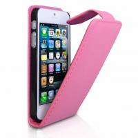 Buy cheap Fashionable Leather Mobile Phone Pouches Case In Pink / Orange / Red from wholesalers