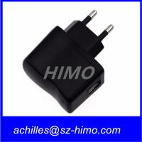 Buy cheap promotion model 5v 0.5A 1A AC DC power adapter usb charger for mobile phone CE,FCC,UL approved from wholesalers