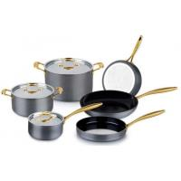 Buy cheap Wonderful Hard Anodized Aluminium cookware set/kitchenware set/pots and pans with glass lid from wholesalers