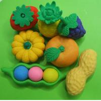 Buy cheap fruit erasers assortment( kiwi fruit,watermelon and strawberry) from wholesalers