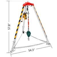 Buy cheap Wire Rope Safety Tripod Rescue Equipment With Hand Winch from wholesalers