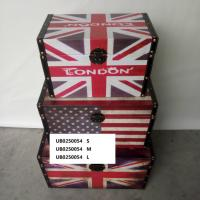 Buy cheap American British Flag Vintage Jewellery Organizer Wooden Storage Box Small Treasure Chest from wholesalers