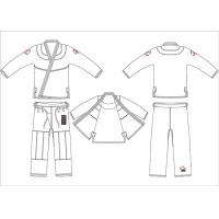 Buy cheap Nature White Hemp Bjj Gi Lightweight MMA Youth Jiu Jitsu Gi Uniforms from wholesalers