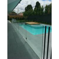Outdoor u channel frameless tempered glass railing system