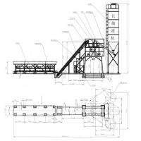 HZS60 Concrete Batching Plant Construction drawing