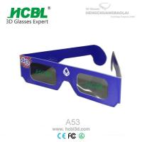 Customized Purple Foldable Linear Polarized Paper 3D Glasses / Eyewear For 3D Movie