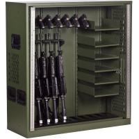 Buy cheap 10 Gun Cabinet Double Door Heavy Duty Storage Locker , Heavy Duty Metal Storage Cabinet  from wholesalers