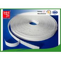 Buy cheap 12mm white hook and loop adhesive tape without edge , 25m per roll from wholesalers