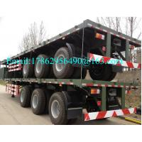 Buy cheap Three Alxes 40ft Heavy Duty Semi Trailers Flatbed Truck With 28 Tons Landing Gear from wholesalers