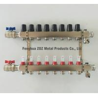 Buy cheap Stainless Steel Manifold Packages for Radiant Heating ,1 Manifolds with Zone Flowmeters from wholesalers