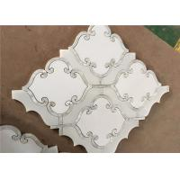 Buy cheap Waterjet Natural Stone Mosaic Tile 194 X 194mm White Mosaic Wall Tiles from wholesalers