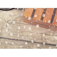 Buy cheap Wedding Bridal Nylon Lace Fabric / Nylon Netting Fabric With Small Dot Flowers product