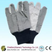 Buy cheap cotton gloves pvc dots,pvc dotting glove knit wrist from wholesalers