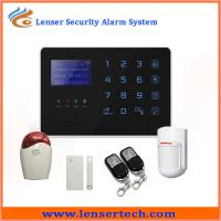 Buy cheap SMS remotely control Android app Support multi-language home security gsm alarm system from wholesalers