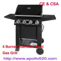 Buy cheap 4 Burner BBQ on cart from wholesalers