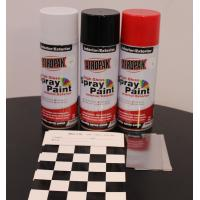 Buy cheap Weather Resistant Fast Dry Acrylic Spray Paint Black For Leather / Plastic from wholesalers