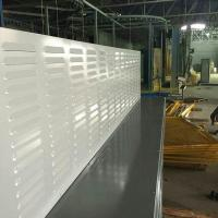 Buy cheap Louver perforated absorptive acoustic noise barrier wall from wholesalers