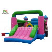 Buy cheap Durable PVC Pink Princess Inflatable Commercial Bounce Houses For Kids Outdoor Activites from wholesalers