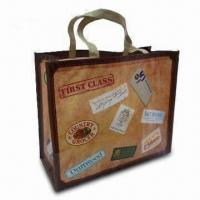 Buy cheap Shopping Bags with Cross Stitching on the Handles, Made of PP Nonwoven Laminated OPP Film from wholesalers