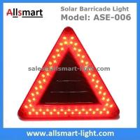 Buy cheap Triangle Solar Powered Barricade Light Movable Police Solar Roadblock Lamp for Road Intersections Expressway Highway from wholesalers