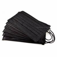Buy cheap Black Color 3 Ply Non Woven Face Mask Lint Free High Filtration Efficiency product