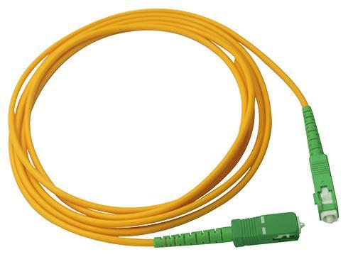 Quality Simplex 2.0mm LSZH Fiber Optic Patch Cord SC / APC Connector to SC / APC SM for sale